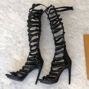Strappy  open toe Gladiator stiletto Heel.